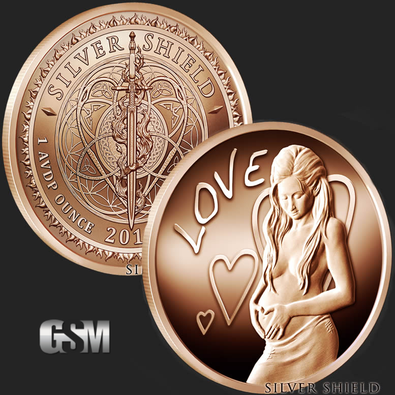 Bullion Loyal 3 Rounds Walking Liberty 1 Oz .999 Copper Rounds Buy One Give One Coins & Paper Money