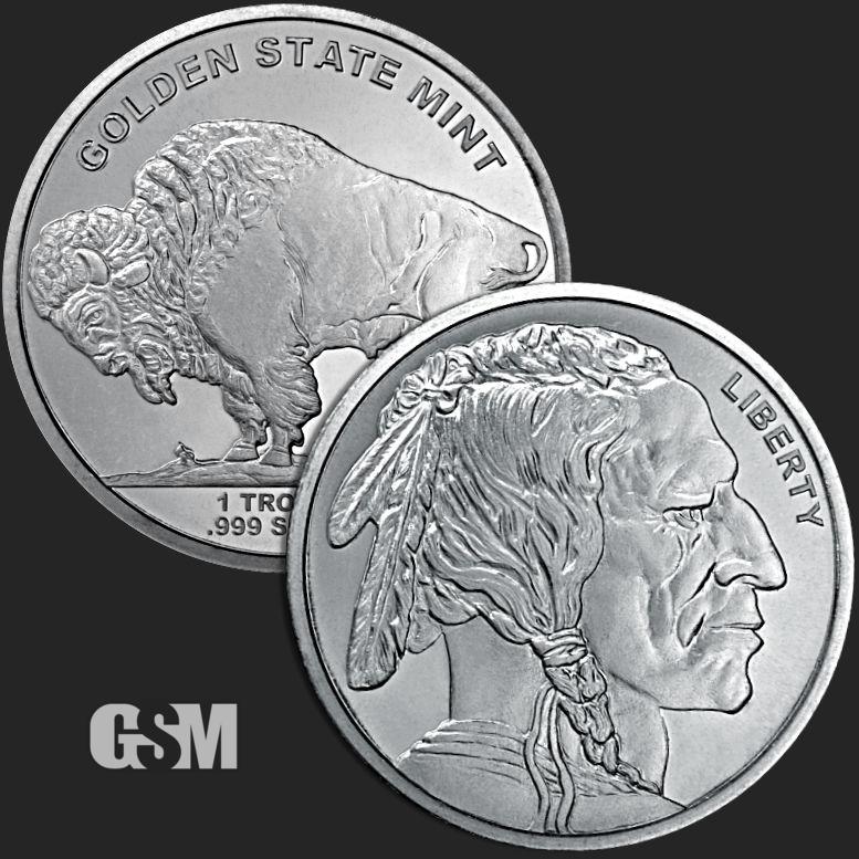 Lot of 2-1 oz Buffalo Stackable Silver Round .999 Silver