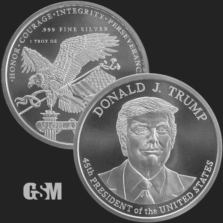 Silver Shield 1oz Proof Trump Twitter 2019 .999 Fine Silver Round COA
