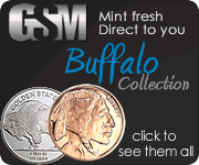 Buffalo copper and silver round collection