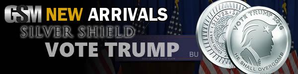 Presidential Candidate - Vote Donald Trump - 1 oz Silver Round BU - Golden State Mint
