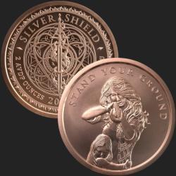 Pyramid Scheme Proof MiniMintage Silver Round w//COA 2019 SILVER SHIELD 1 oz