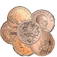 2012 Mercury Dime Design .999% Copper Bullion Round 1 Avdp Oz Collector Gift Complete Range Of Articles Other Bullion