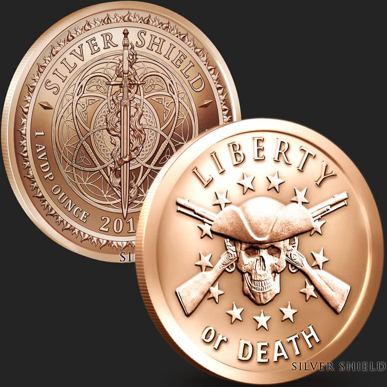 2018 Silver Shield Don/'t Tread On Me 1 oz Copper Round BU