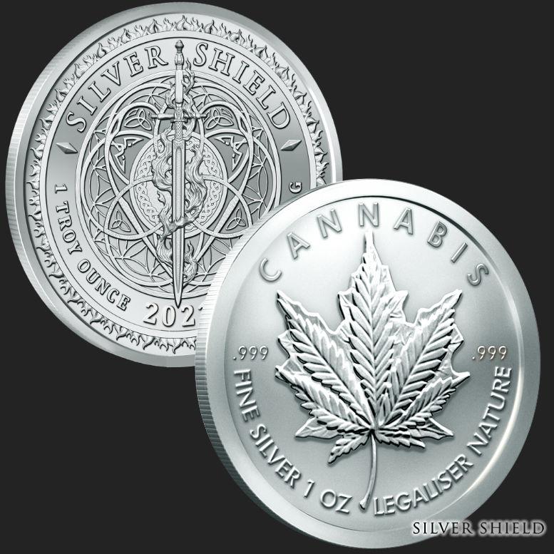 Cannabis - Legalize It Private Mint 1 oz .999 Pure Copper Round//Challenge Coin