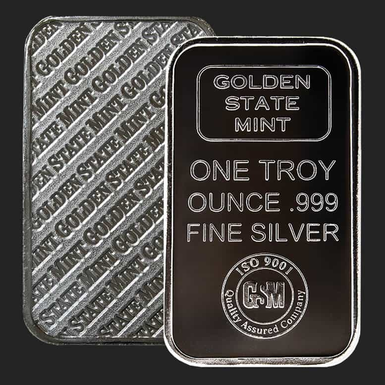 Golden State Mint 1 Oz Silver Bars