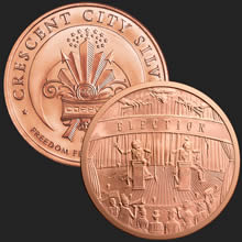 5 Oz Election Copper Bullion Round 999 Fine