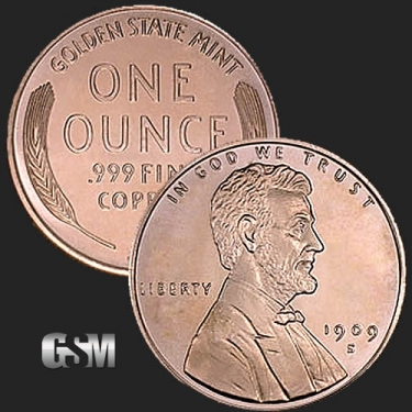 Lincoln 1 oz Copper Coin