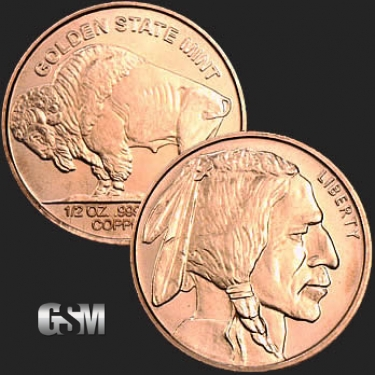 Buffalo 1/2 oz Copper Coin