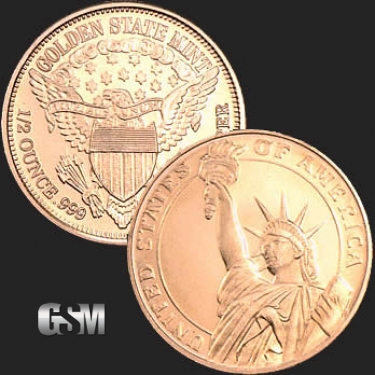 Statue of Liberty 1/2 oz Copper Coin