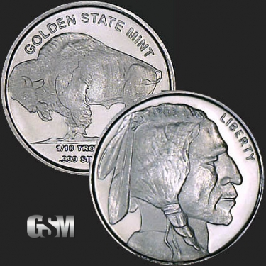 Buffalo 1/10 oz Silver Coin