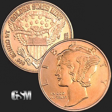 Mercury 1/4 oz Copper Coin