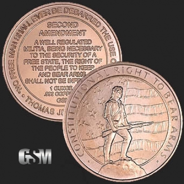 Amendment 1 oz Copper Coin