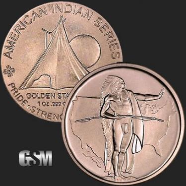 Oregon Trail 1 oz Copper Coin