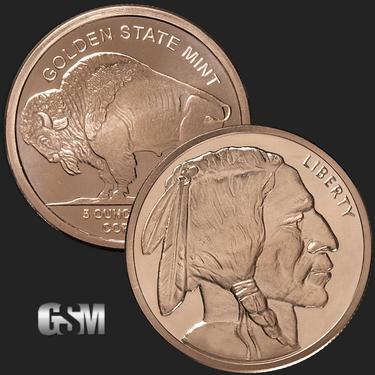 1oz Copper Bullion Rounds .999 Fine Coins & Paper Money Bullion 5