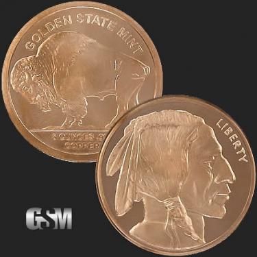 Buffalo 5 oz Copper Coin