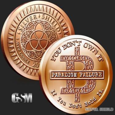 Bitcoin 1 oz Copper Coin
