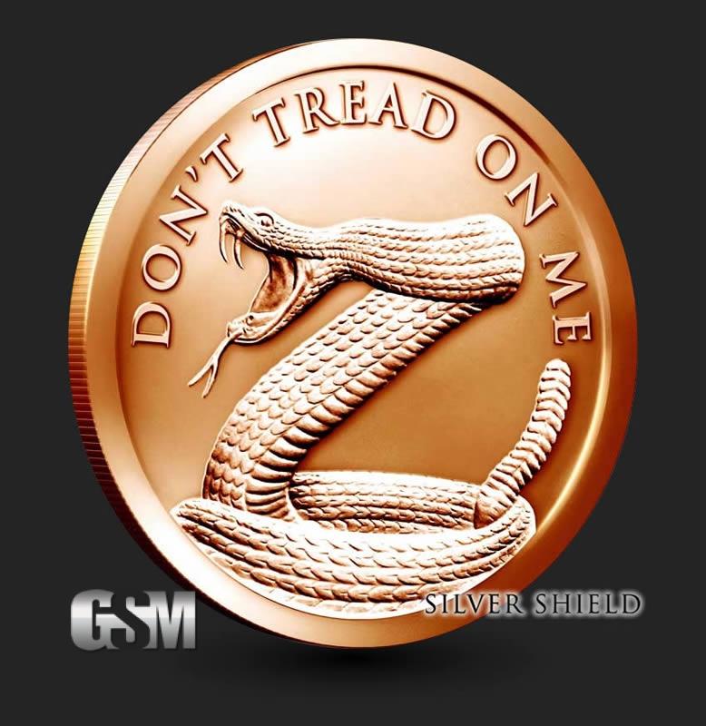 Don T Tread On Me Snake 1 Oz Copper Round 1 Oz Copper Coin