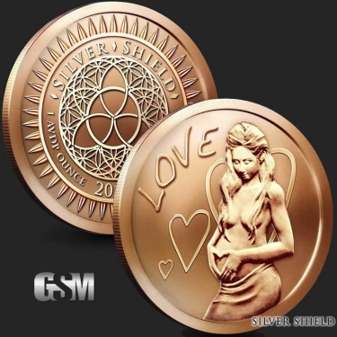 Love 1 oz Copper Coin