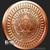 Silver Shield 1 oz Copper Jesus crucifixion Reverse