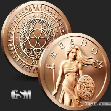 Standing Freedom 1 oz Copper Coin