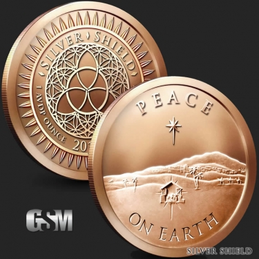 Peace on earth 1 oz Copper Coin