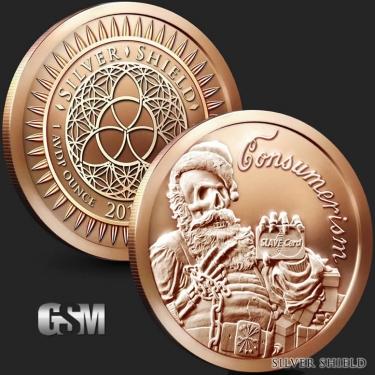 Consumerism 1 oz Copper round