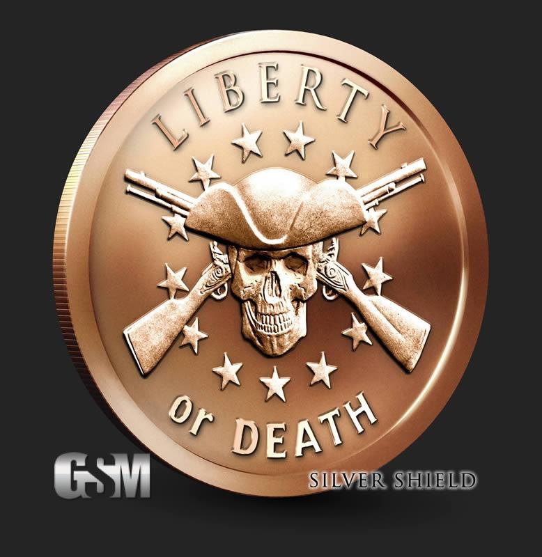 Liberty Or Death 1 Oz Copper Round 1 Oz Copper Coin