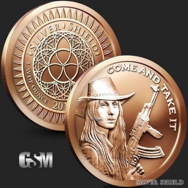 Come and Take It 1 oz Copper Coin
