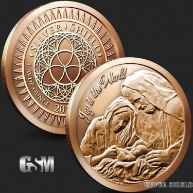 Joy to the World 1 oz Coper Coin