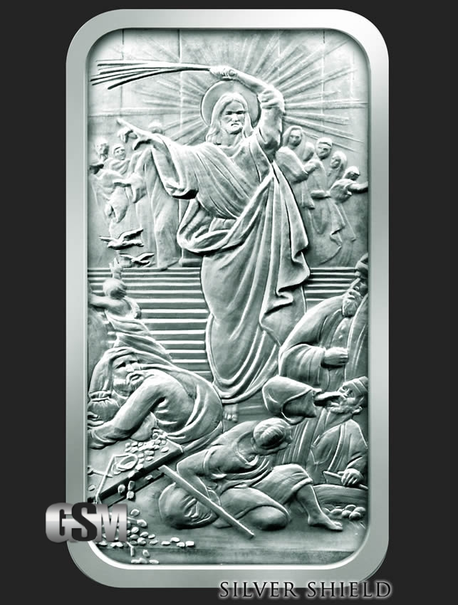 Jesus Clears The Temple 10 Oz Silver Bars 10 Oz Silver Bar