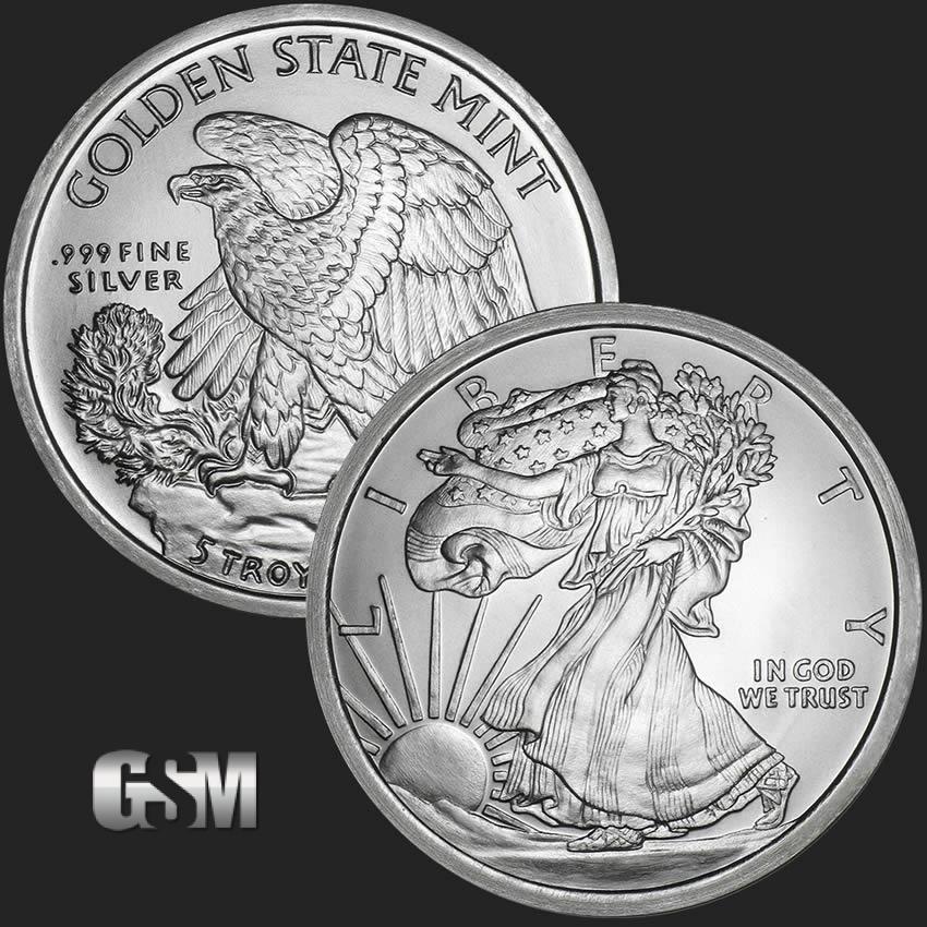 Walking Liberty 5 Oz Silver Round 5 Oz Silver Coin