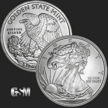 Walking Liberty 5 oz Silver Coin