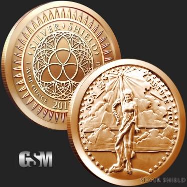 Vi Virtute Vici 1 oz Copper Coin