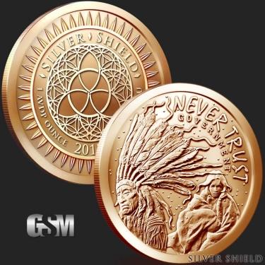 Never Trust Government 1 oz Copper Coin