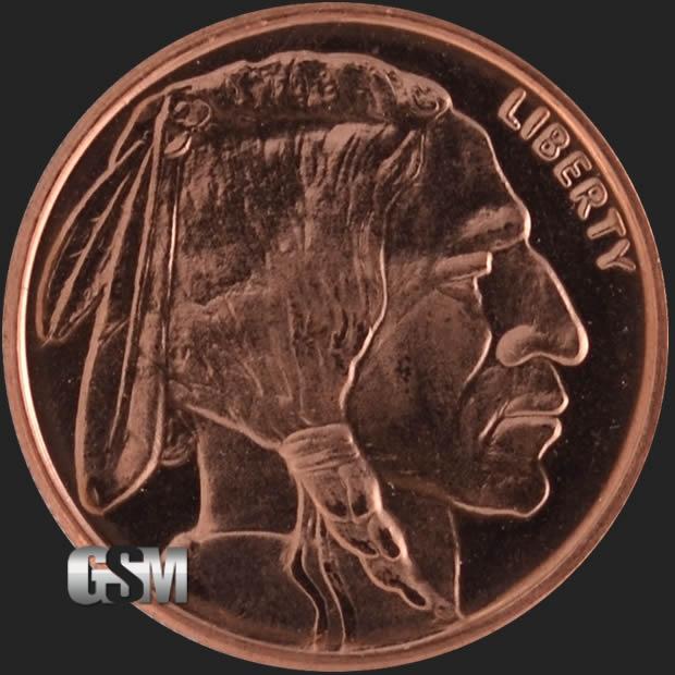 Buffalo 1 4 Oz Copper Round 1 4 Oz Copper Coin