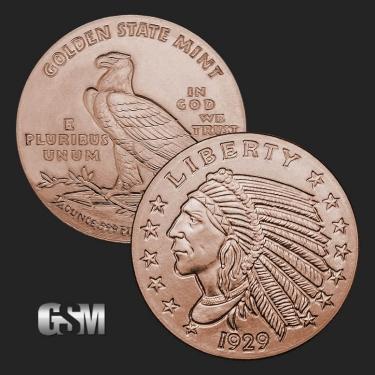 Indian 1/4 oz Copper Coin