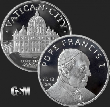 Pope Francis 1 oz Silver Coin