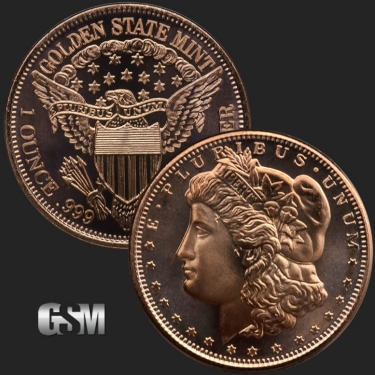 Morgan 1 oz Copper Coin