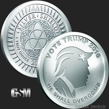 Vote Trump 1 oz Silver Coin