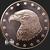 1 oz Copper bullion Eagle Eagle round .999 fine obverse