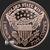 1 oz Copper bullion Eagle Eagle round .999 finereverse