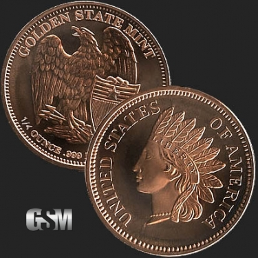 Indian head 1/4 oz Copper Coin