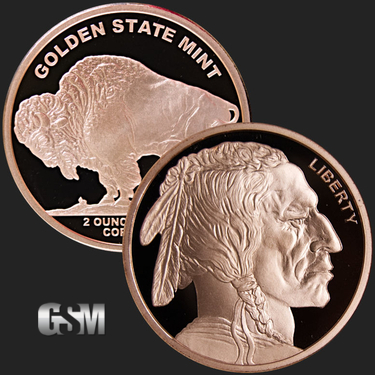 Indian Head Liberty Buffalo 1 Avdp Oz .999 Fine Copper Coin Uncirculated # 2 Other Bullion