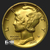 Mercury Dine 1/10th oz .9999 Fine BU Gold round PCGS obverse