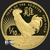 1/10 oz GSM Year of the Rooster Gold Bullion Round .999 Fine Obverse