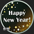 Golden State Mint Happy New Year Sparkles 2018 1 oz Silver Round .999 Fine Obverse