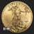 1 oz Gold American Eagle Random Year Obverse