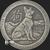 Antiqued Year of the Dog 2 oz Silver bullion round obverse design