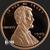 2 oz Lincoln Wheat Copper Bullion Round .999 Fine Obverse